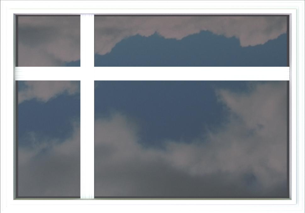 fenêtre imposte en croix
