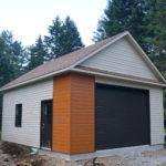 garage avec deux couleurs de revêtement
