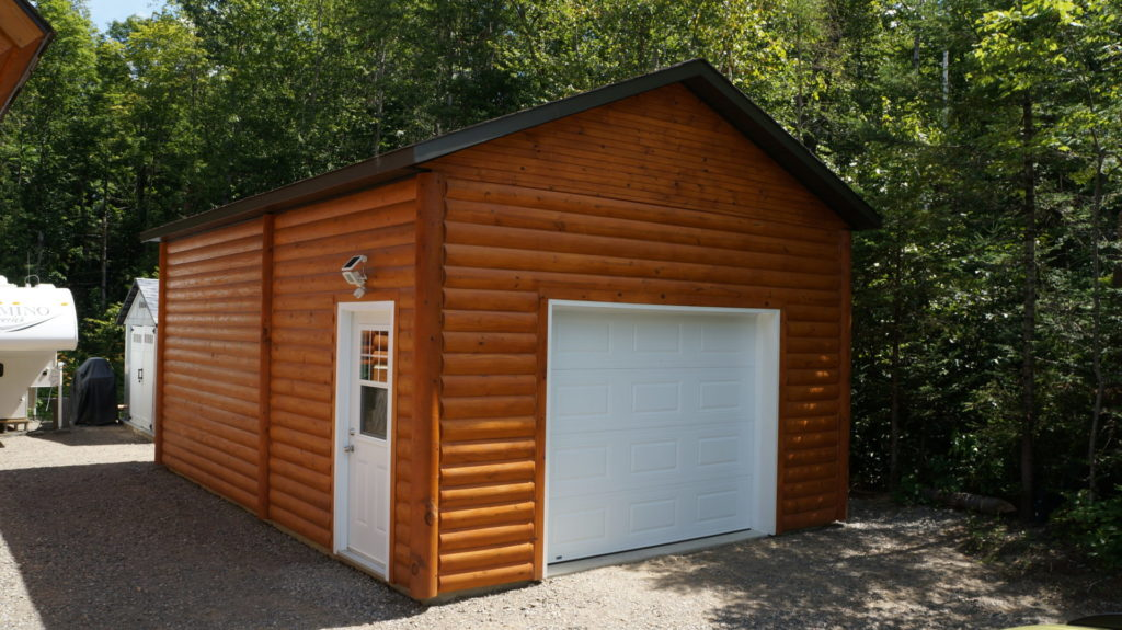 garage revêtement de bois