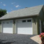 garage 2 versant avec deux portes de garage